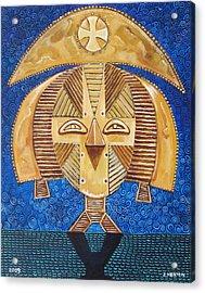 Gabon Mask - A Multi-cultural Celebration Acrylic Print by John Keaton