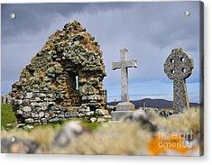 Gaelic Headstone Acrylic Print by Stephen Smith