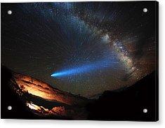 Galactic Traveler Acrylic Print by Darren White