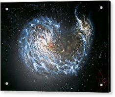 Galaxies Merging. Acrylic Print by Giovanni Santostasi