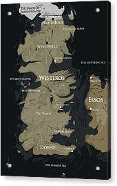Game Of Thrones Map Acrylic Print by Semih Yurdabak