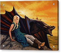 Game Of Thrones Painting Acrylic Print by Paul Meijering