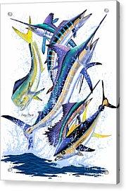 Gamefish Digital Acrylic Print by Carey Chen