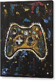 Gamer Acrylic Print by Michael Creese
