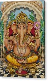 Ganapati Darshan Acrylic Print by Vrindavan Das
