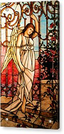 Garden Angel Acrylic Print by Kristin Elmquist