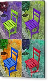Garden Chairs  Acrylic Print by Tony Craddock