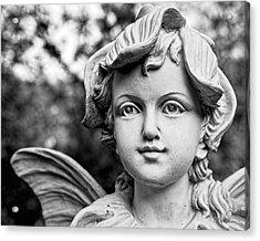 Garden Fairy - Bw Acrylic Print by Christopher Holmes