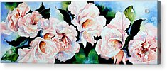 Garden Roses Acrylic Print by Hanne Lore Koehler