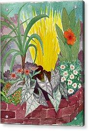 Garden Scene Sep.2010 Acrylic Print by Fred Jinkins