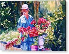 Gardener Acrylic Print by Estela Robles