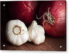 Garlic And Onions Acrylic Print by Tom Mc Nemar