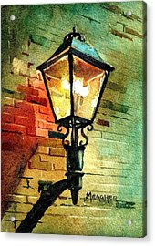 Gas Lamp Acrylic Print by Spencer Meagher