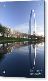 Gateway Arch And Reflection Acrylic Print by Sven Brogren