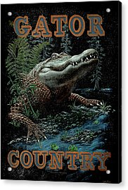 Gator Country Acrylic Print by JQ Licensing