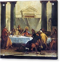 G.b. Tiepolo: Last Supper Acrylic Print by Granger