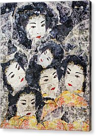 Geisha Acrylic Print by Shelley Jones