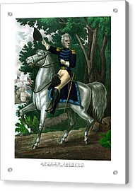 General Andrew Jackson On Horseback Acrylic Print by War Is Hell Store