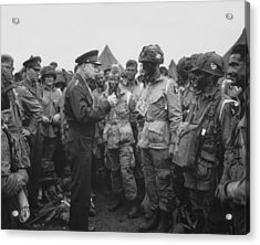 General Eisenhower On D-day  Acrylic Print by War Is Hell Store