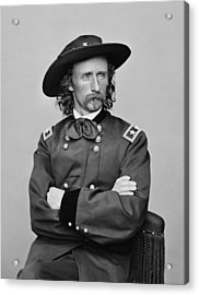 General George Armstrong Custer Acrylic Print by War Is Hell Store