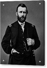General Grant During The Civil War Acrylic Print by War Is Hell Store