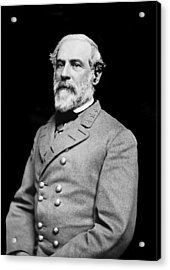 General Robert E Lee - Csa Acrylic Print by Paul W Faust -  Impressions of Light