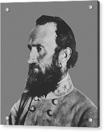 General Stonewall Jackson Acrylic Print by War Is Hell Store