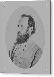 General Thomas Stonewall Jackson Acrylic Print by War Is Hell Store