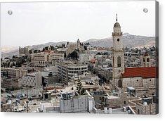 General View Of Bethlehem 2009 Acrylic Print by Munir Alawi