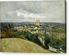 General View Of The Town Of Saint Lo Acrylic Print by Jean Corot