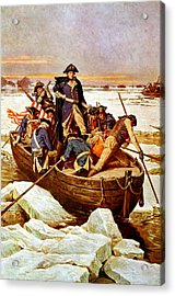 General Washington Crossing The Delaware River Acrylic Print by War Is Hell Store