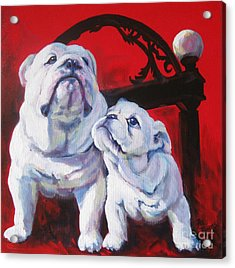 Generations Of Uga Acrylic Print by Pat Burns