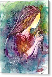 Gentile As A Dove Acrylic Print by Deborah Nell