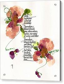 Gently Acrylic Print by Darlene Flood