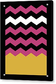Geometric Chevron Colors 1 Acrylic Print by Francisco Valle