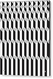 Geometric Cube Illusion 1 Acrylic Print by Francisco Valle