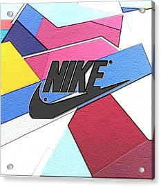 Geometric Nike Cover Acrylic Print by Dekai Youmans