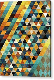Geometric Sunset Acrylic Print by Francisco Valle