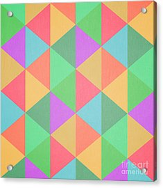 Geometric Triangles Abstract Square Acrylic Print by Edward Fielding