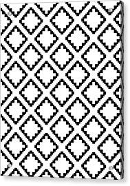 Geometricsquaresdiamondpattern Acrylic Print by Rachel Follett