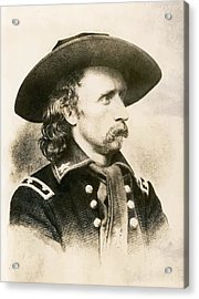 George Armstrong Custer  Acrylic Print by War Is Hell Store