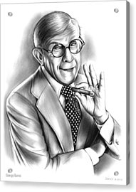 George Burns Acrylic Print by Greg Joens