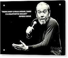 George Carlin Art  Acrylic Print by Pd