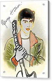 George Harrison - 3 Acrylic Print by GooDaCool Gallery