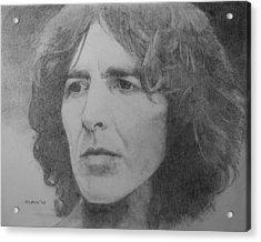 George Harrison Acrylic Print by Glenn Daniels