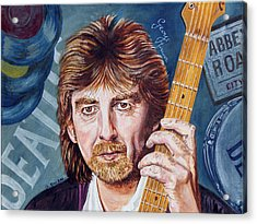 George Harrison Acrylic Print by Graham Swan