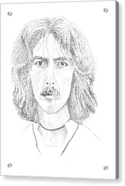 George Harrison Acrylic Print by Terry Adamick