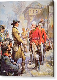 George Rogers Clark Accepts The Surrender Of British Commander Henry Hamilton At Fort Sackville Acrylic Print by Newell Convers Wyeth