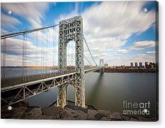 George Washington Bridge Acrylic Print by Greg Gard