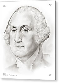 George Washington Acrylic Print by Greg Joens